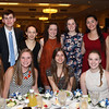 DAVID LE/Staff photo. The 2016 Danvers High School Top Scholars being honored include, Melissa Freed, Abigial Armstrong, Madeleine Bingham, Jenna Clemenzi, Tre Crittendon, Erin Flynn, Alexis Gilchrist, Olivia Heutlinger, Kelly Lewis, Kellie Mullaney, Robert Parsons, and Maya Volpacchio, at the48th annual North Shore Chamber of Commerce Honor Scholars Recognition Dinner at the DoubleTree by Hilton Hotel in Danvers. 5/10/16.