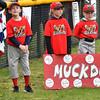 Peabody Single A baseball's Batavia Muckdogs wait to be announced during opening day cermonies. Jack Smith, Jonathan DeLoreto, Samantha Mooney, Owen Jordan, Owen Casey and Jason Decost. <br /> <br /> Photo by joebrownphotos.com