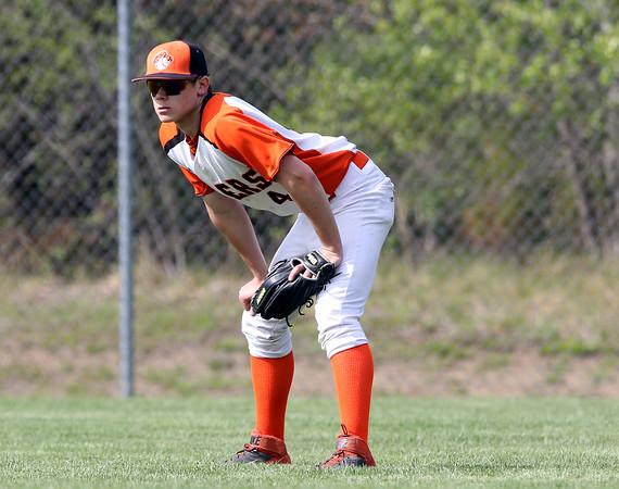 DAVID LE/Staff photo. Ipswich senior right fielder Jay Galoski. 5/17/16.