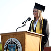 DAVID LE/Staff photo. Bishop Fenwick Senior Class President Melissa MacKenzie delivers her welcome address to her classmates at graduation on Friday evening. 5/20/16.