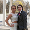 Photo/Reba Saldanha  Sydney Giordano and John Joyce pose for a photo at the library's Rotary Pavilion before boarding buses to the Danvers High School junior prom Friday April 29, 2016