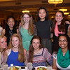 DAVID LE/Staff photo. The 2016 Hamilton-Wenham Regional High School Top Scholars being honored include, Jeanine Zheng, Emma Beane, Madeleine Berthoud, Esther Darko, Narah Kum, Saskia Leonard, Mariah Manter, Annabel Rutherford, Madeline Werner, and Fiona Worsfold, at the48th annual North Shore Chamber of Commerce Honor Scholars Recognition Dinner at the DoubleTree by Hilton Hotel in Danvers. 5/10/16.DAVID LE/Staff photo.