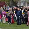 Parents and family members and friends pack the first base line for the Peabody LL Oprning day parade and ceremony.<br /> <br /> Photo by joebrownphotos.com