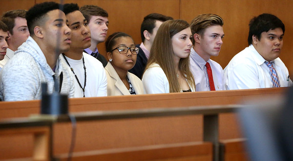 Students from Beverly, Danvers and Pingree took part in program to learn about the law