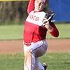 HADLEY GREEN/ Staff photo<br /> Masco's David Hunter pitches at the Swampscott v. Masco boys baseball game at Swampscott Middle School. 5/12/17