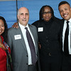 HADLEY GREEN/ Staff photo<br /> From left, Nelly Wadsworth, Richard Lapidus, Edna Milton, and Jerome Wilcox attend the reception for Salem State President Patricia Meservey. 5/23/17
