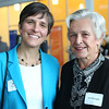 HADLEY GREEN/ Staff photo<br /> Kara McLaughlin of the House of Seven Gables and her mother Jan McLaughlin attend the reception for Salem State President Patricia Meservey. University, community, and government leaders honored Meservey's contributions to the school. 5/23/17