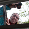 HADLEY GREEN/ Staff photo<br /> Kayla Flanagan drills a hole in one of the houses being built by Habitat for Humanity on Asbury street in South Hamilton. Women volunteered for North Shore Habitat for Humanity as part of National Women Build Week. 5/6/17