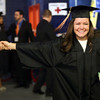 HADLEY GREEN/ Staff photo<br /> Graduates from Salem State's College of Health and Human Services and Bertolon School of Business walk into the commencement ceremony held at the O'Keefe Center. 5/20/17