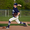 RYAN HUTTON/ Staff photo<br /> Swampscott's Luke Marshall fires one in in the bottom of the second inning of Wednesday's game at Danvers.
