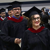 HADLEY GREEN/ Staff photo<br /> Allison Gerber walks into the Gordon-Conwell Theological Seminary graduation ceremony held at the Bennett Center at Gordon College in Wenham. 5/13/17