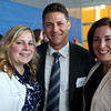 HADLEY GREEN/ Staff photo<br /> From left, Lauren Hubacheck, Neil Andrito, and Rebecca Jimenez attend the reception for Salem State University President Patricia Meservey. 5/23/17