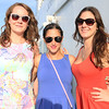 HADLEY GREEN/ Staff photo<br /> From left, Stephanie Coleman of Boston, Christian Paris of Methuen, and Scarlett Tamburro of Boston stand on the lower deck of the Salem Ferry during the Salem Chamber of Commerce's event to mark the ferry's opening for summer.  5/16/17