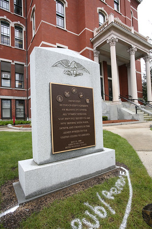 Monument for Peabody servicewomen has been moved over next to memorials for soldiers killed in action.