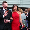 HADLEY GREEN/Staff photo<br /> Students wave to family and friends at Marblehead High School's red carpet event for the junior prom. <br /> <br /> 05/18/2018