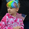 MIKE SPRINGER/Staff photo<br /> Five-year-old Alli D'Antonio watches the Memorial Day parade Monday in Danvers.<br /> 5/28/2018