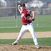 HADLEY GREEN/Staff photo<br /> Gloucester's Ben Oliver (3) pitches at the Gloucester v. Danvers baseball game at the Nate Ross Field in Gloucester.