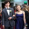 HADLEY GREEN/Staff photo<br /> Jack Rieckelman and Mira Vulikh enter Marblehead High School's red carpet event for the junior prom. <br /> <br /> 05/18/2018