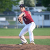 HADLEY GREEN/Staff photo<br /> Gloucester's Ben Oliver (3) pitches at the Danvers v. Gloucester baseball game at Twi Field in Danvers.<br /> <br /> 05/11/2018