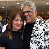HADLEY GREEN/Staff photo<br /> From left, Dharma Cortes and Rudy Vega of Lynn, trustees of North Shore Medical Center, attend the Gourmet Gala, a fundraiser for the North Shore Cancer Walk, at Acura of Peabody.<br /> <br /> 05/04/2018