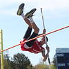 HADLEY GREEN/Staff photo<br /> Masconomet's Joe Lavoie pole vaults at the Hamilton-Wenham, Ipswich and Masconomet track meet at Hamilton-Wenham High School.<br /> <br /> 05/09/2018