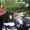 Staff photo/ HADLEY GREEN<br /> Salem Mayor Kim Driscoll speaks at the Salem Memorial Day ceremony at Greenlawn Cemetery. <br /> <br /> 05/28/2018