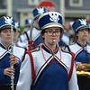 MIKE SPRINGER/Staff photo<br /> Drum major Abbi Foglietta, a senior, marches with the Danvers High School Falcons Marching Band in the Memorial Day parade Monday in Danvers.<br /> 5/28/2018