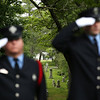 Staff photo/ HADLEY GREEN<br /> Members of the Salem Fire Department salute at the Salem Memorial Day ceremony at Greenlawn Cemetery.<br /> <br /> 05/28/2018