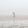 HADLEY GREEN/Staff photo<br /> Dexter Grant, 7, of Beverly, runs through the fog at the Dane Street Beach in Beverly.<br /> <br /> 05/09/2018