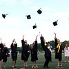 HADLEY GREEN/Staff photo<br /> Students throw their caps into the air at the conclusion of the Bishop Fenwick High School graduation ceremony.<br /> <br /> 05/25/2018