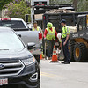 Photo by Ken Yuszkus     Work on Enon Street in Beverly slows the flow of traffic.      5/14/18