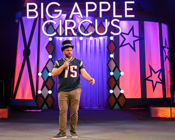 Ted Karras as Guest Ringmaster at the Big Apple Circus