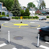 Temporary traffic roundabout at Route 114, Chestnut & Norman streets in Salem.