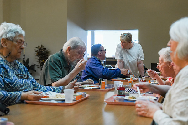Congregate Supper at the North Shore Elder Services