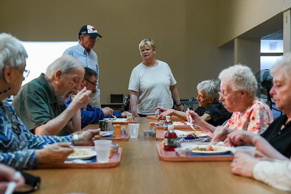 Congregate Supper at the North Shore Elder Services