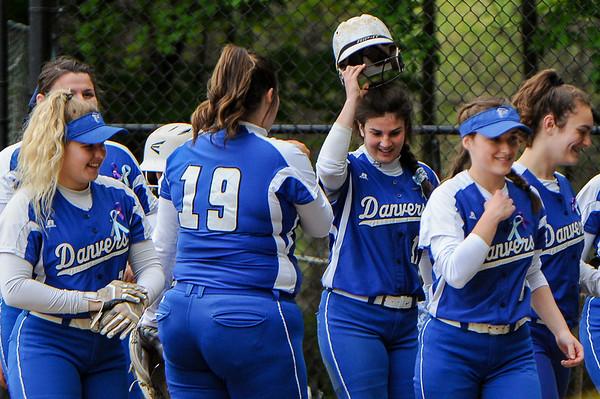 Danvers at Peabody varsity softball