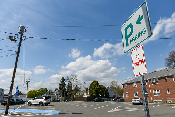Parking spaces without cars in front of them in Danvers