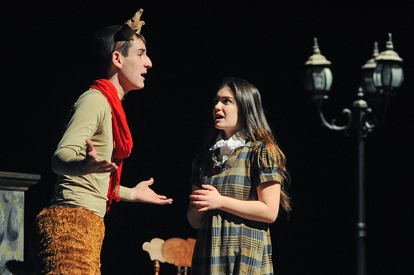 """Rehearsal for """"The Lion, The Witch and The Wardrobe"""" at Beverly High School"""