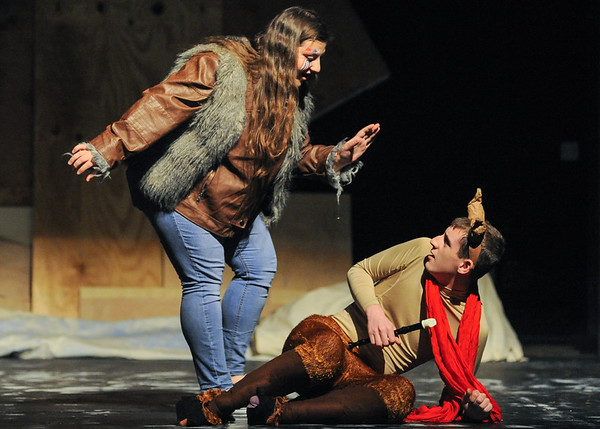 "Rehearsal for ""The Lion, The Witch and The Wardrobe"" at Beverly High School"