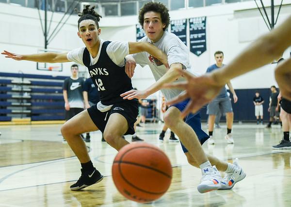 Essex Tech basketball practice
