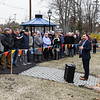 Mayor Edward Bettencourt helps cut the ribbon on Crystal Lake improvements