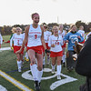 AMANDA SABGA/Staff photo <br /> <br /> Masconomet teammates celebrate their sudden death win over Andover in the division one north field hockey championship game at North Andover High School. Masconomet defeated Andover 2-1 in sudden death overtime.<br /> <br /> 11/10/18