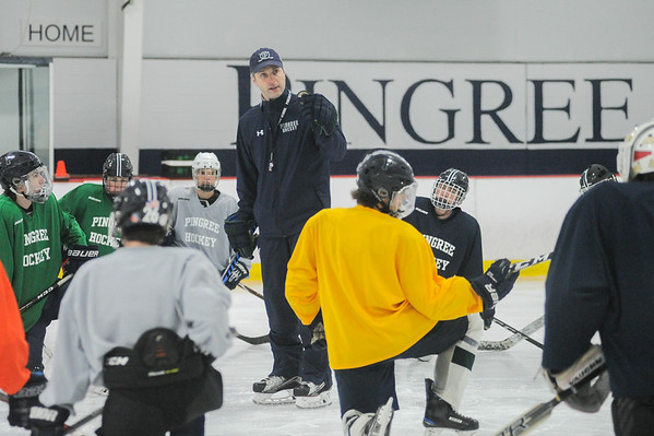 Pingree boys hockey practice