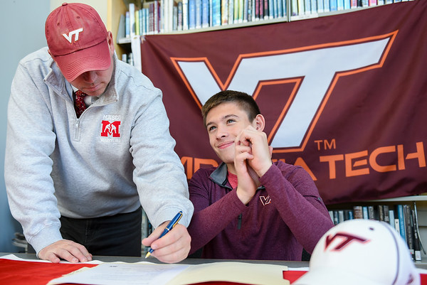 Masco's Jack Darling signing National Letter of Intent to attend Virginia Tech on wrestling scholarship