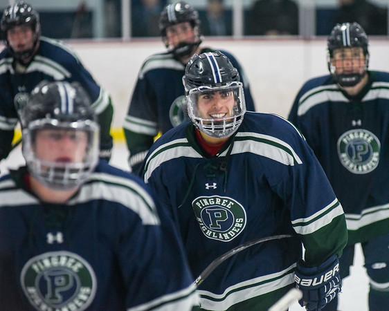 Pingree boys hockey season opener vs. Brooks School