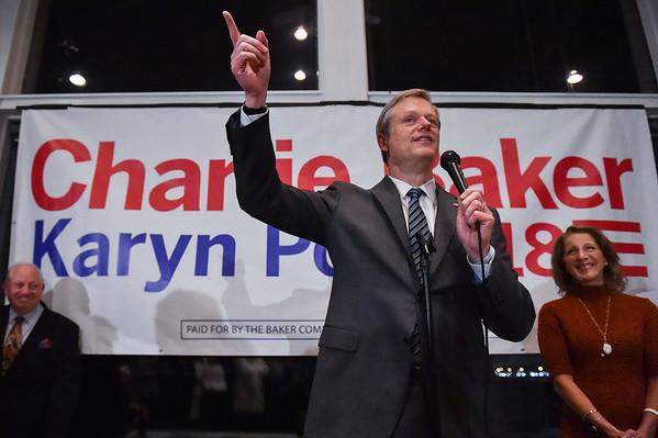 Incumbent Gov. Charlie Baker hometown rally