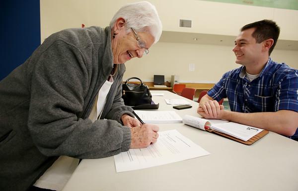 Sen. Joan Lovely holds CharlieCard event for Peabody seniors