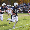 HADLEY GREEN/Staff photo<br /> Hamilton-Wenham's Cam Peach (44) runs with the ball at the Hamilton-Wenham v. Arlington Catholic Division 6 North playoff semifinals football game at Hamilton-Wenham High School.<br /> <br /> 11/04/17
