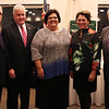 HADLEY GREEN/Staff photo<br /> From left, Salem State University President John Keenan, Kevin Tierney of North Shore Bank, Laura Swanson of Salem State University, Grace Cotter Regan, Head of School at St. Mary's High School, and Bill Tinti of Tinti, Quinn, Grover & Frey attend the North Shore Chamber dinner and distinguished leaders awards ceremony.<br />  <br /> 11/15/17