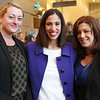 """HADLEY GREEN/Staff photo<br /> From left, Jacqueline Swift, Lindsey Patten, and Heather Murphy of Porcello Law Offices attend the """"This Is Your Court"""" event at the Salem Superior Court. 11/08/17"""